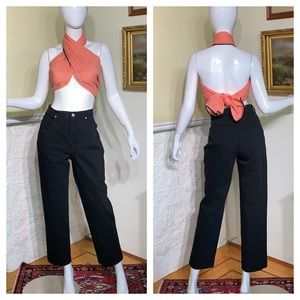 FDJ High Rise Tapered Crop Vintage Mom Jeans